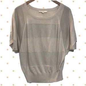 50%OFF LOFT Soft Gold Dolman Sweater Shimmer